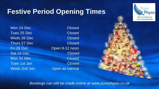 Festive Period Opening Times